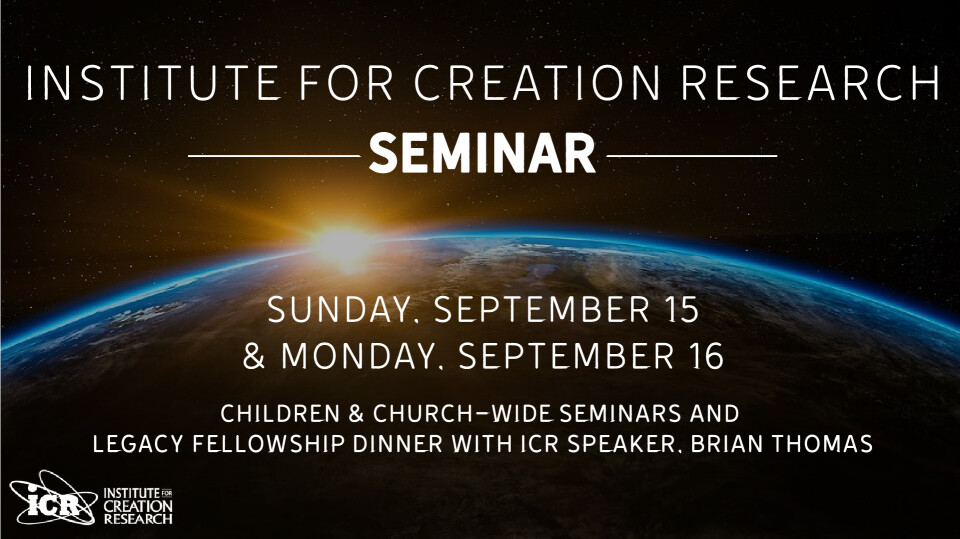 Church Wide Creation Seminar