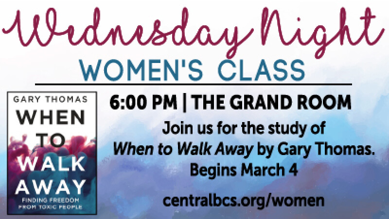 Women's Wednesday Evening Class